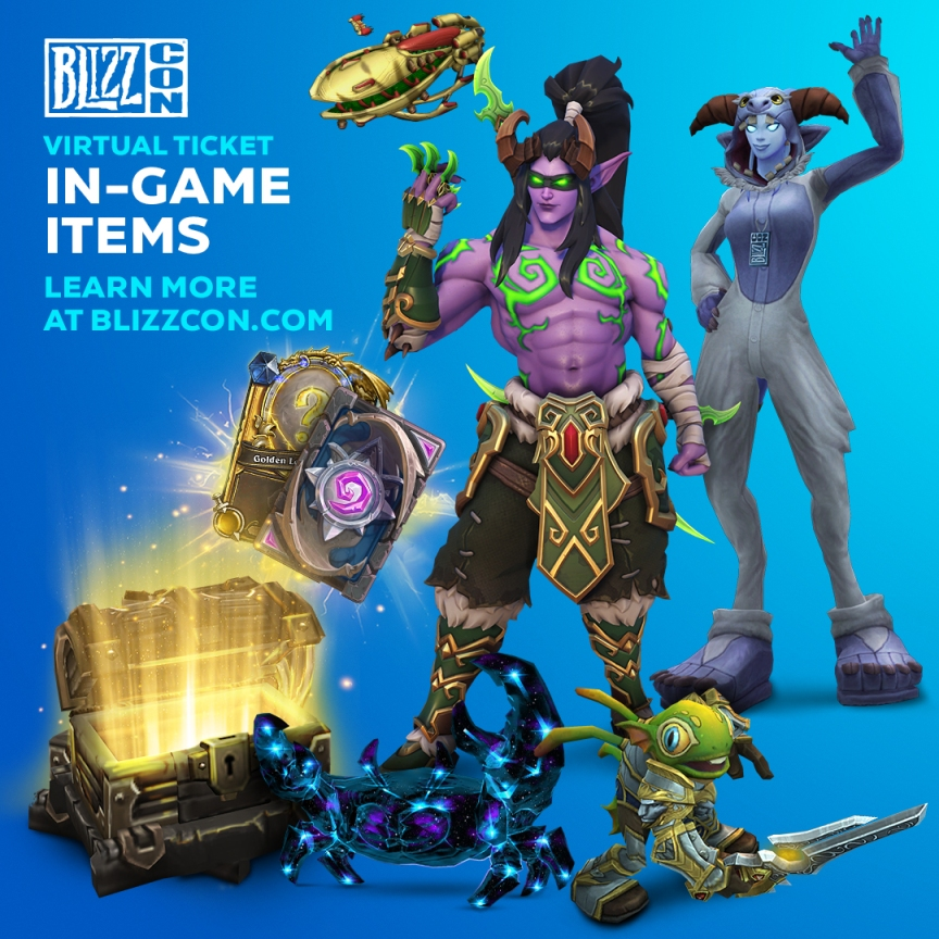 BlizzCon 2019 Virtual Ticket (for $ 49.99) comes with a stack of additional in-game items