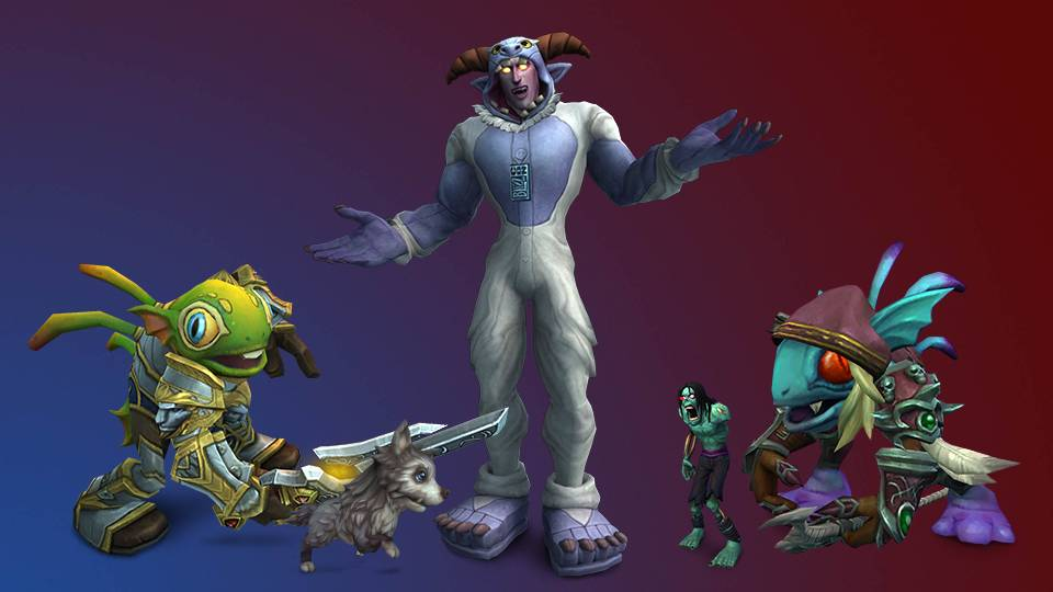 Two Murloc-ifikasi faction leaders. Finduin (for the hero of The Alliance) and Gillvanas (for The Horde) of the transmigration suit Wendigo Woolies. Available in-game starting today!